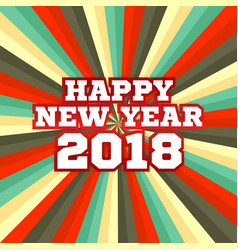 starbeam new year poster in retro colors vector image