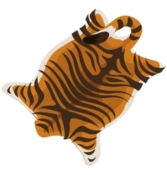 Tiger skin as a carpet vector