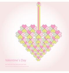 Valentine decorative love heart vector image vector image