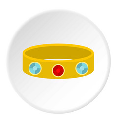 Vintage gold bangle icon circle vector