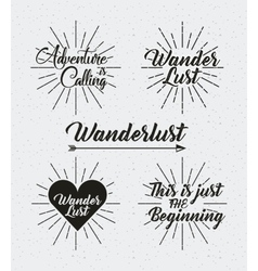 Wanderlust spirit design vector