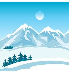 Winter in mountain vector image vector image
