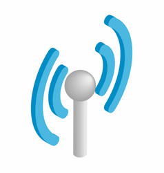Wireless connection isometric 3d icon vector image vector image