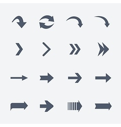 Flat collection of arrows icons isolated on vector