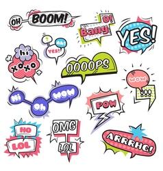 Comic Bubbles Set vector image