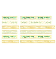 Seamless happy easter ribbons vector