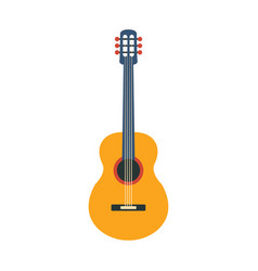 Acoustic guitar part of musical instruments set vector