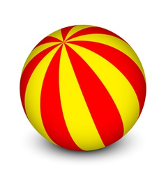 red and yellow ball vector image