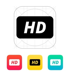 High definition icon vector
