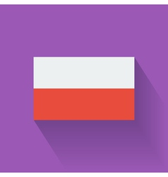 Flat flag of poland vector