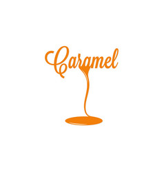 Caramel isolated sign vector