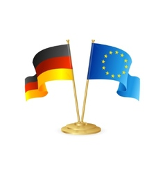 Germany and europe table flag isolated vector