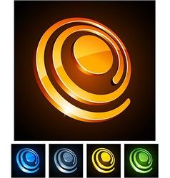 3d vibrant spirals vector
