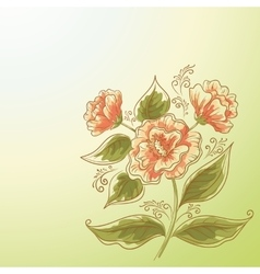 Holiday background flower and leaves vector