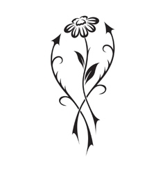 Beautiful flower in tattoo style vector
