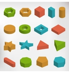 Colorful geometric elements set vector image