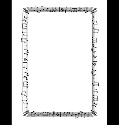 Musical graphic frame vector