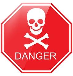 Warning danger sign vector