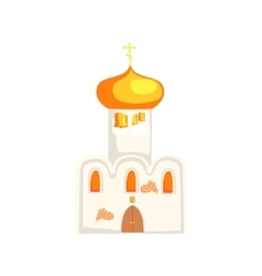 Russian christian orthodox temple vector