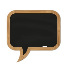 Black rounded chalkboard vector