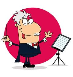 Cartoon conductor vector