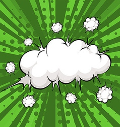 Cloud explosion vector image vector image