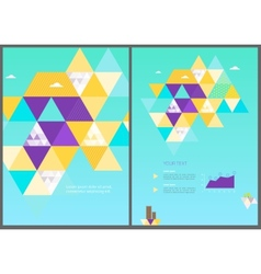 Eco geometric brochure template vector