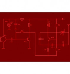 electrical scheme vector image vector image