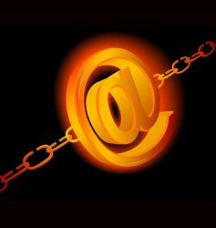 email chains vector image