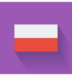 Flat flag of Poland vector image