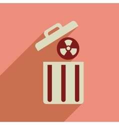 Flat web icon with long shadow toxic waste vector