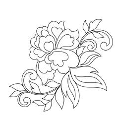 Flower ornament hand drawn vector