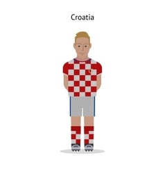 Football kit croatia vector
