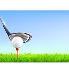 Golf realistic background vector