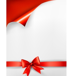 Holiday red background vector image vector image