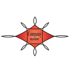 Logo symbol red ornate vector
