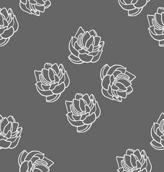 Lotus seamless pattern set vector