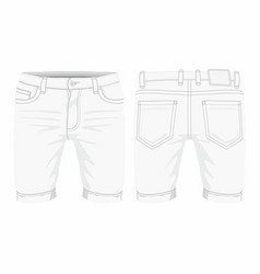 mens white jeans vector image
