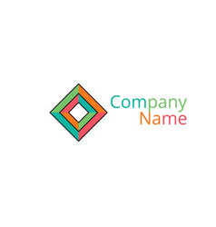 Multidimensional geometric logo vector