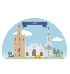 Seville vector image