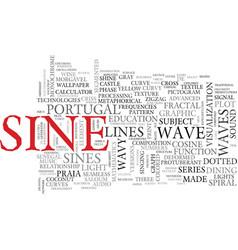 Sine word cloud concept vector