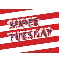 Super tuesday election day in usa vector