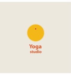 Template logo for yoga studios sun vector