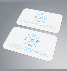 Template of business card mock-up vector