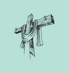 The painted cross of the lord jesus christ vector