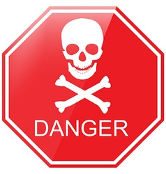 Warning danger sign vector
