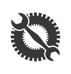 Cog gear wrench machine part icon graphic vector