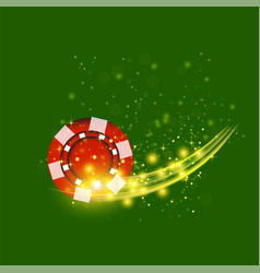 Gambling plastic colored red chip vector