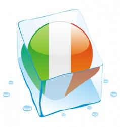 frozen button flag of ireland vector image
