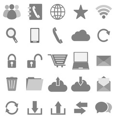 Communication icons on white background vector